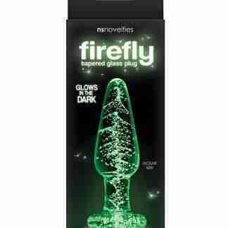 Firefly Glass Tapered Plug Medium - Clear