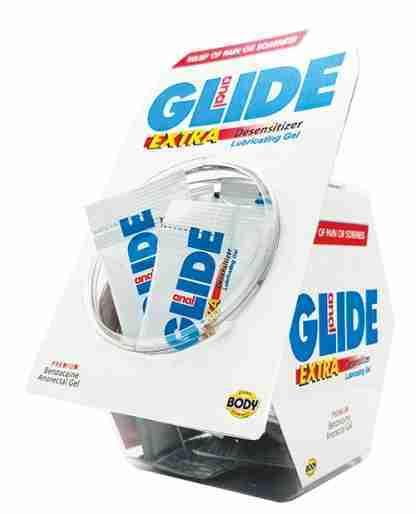 Anal Glide Extra Sample Packet - Box of 50