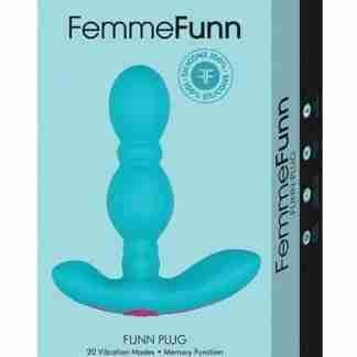 Femme Funn Vibrating Butt Plug - Turquoise