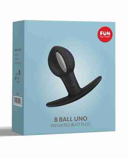 Fun Factory B Ball Uno Weighted Ball Butt Plug - Black/Grey