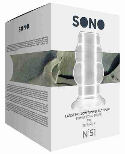Shots Sono Butt Plug - Large Clear