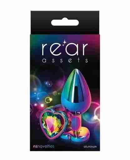 Rear Assets Multicolor Heart Medium - Rainbow