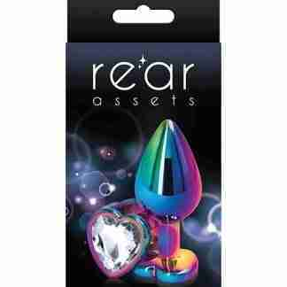 Rear Assets Multicolor Heart Medium - Clear