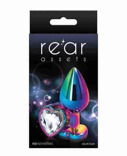 Rear Assets Multicolor Heart Medium - Clear