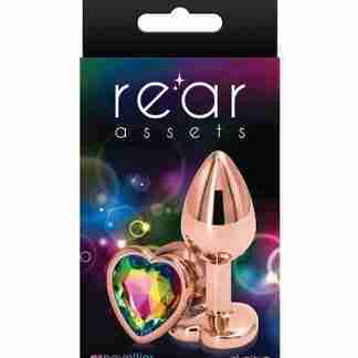 Rear Assets Rose Gold Heart Small - Rainbow