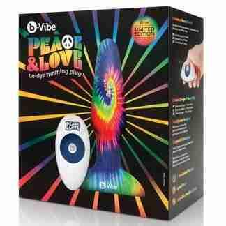 b-Vibe Peace & Love Tie-Dye Rimming Plug