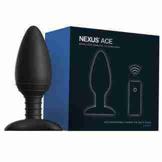 Nexus Ace Remote Control Butt Plug Large - Black