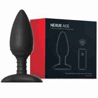 Nexus Ace Remote Control Butt Plug Medium - Black