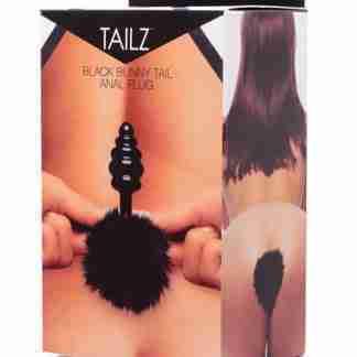 Tailz Bunny Tail Anal Plug - Black