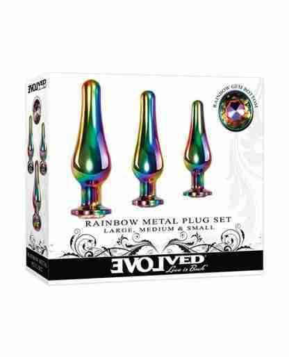 Evolved Rainbow Metal Plug set