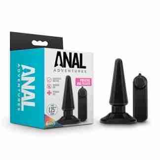 Blush Anal Adventures Basic Vibrating Anal Pleaser - Black