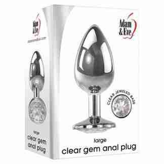 Adam & Eve Clear Gem Anal Plug Large