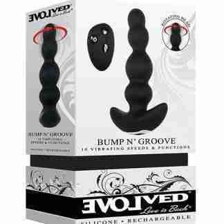 Evolved Bump N' Groove Vibrating Butt Plug - Black